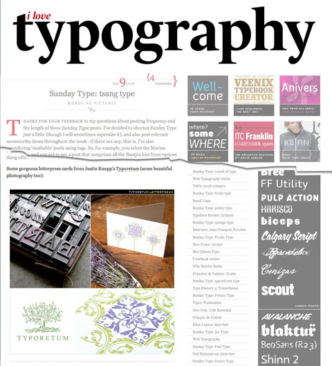 iLT Feature on Typoretum