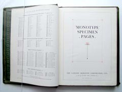 Monotype specimen book.