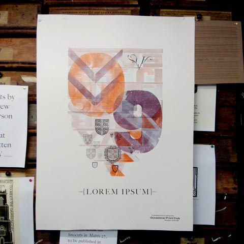 Our completed letterpress poster.
