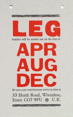 LEG Notice printed by Alan Brignull