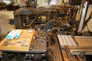 A Monotype Composition Caster at The Whittington Press (image courtesy of Ian Knight/Printmonkey Press)