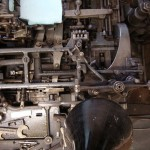 Detail of a Monotype Composition Caster at The Whittington Press