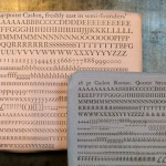 Packets of semi-founders' Caslon type cast at The Whittington Press