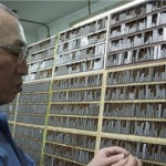 Mr Chang typesetting Chinese metal movable type characters.