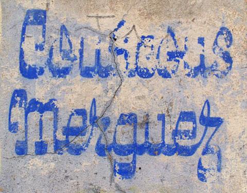 'Coucous Merguez' lettering. Photograph © Jules Vernacular 2006-2012