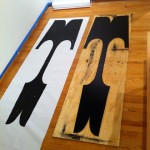 World's largest movable letter 'T' alongside the print Nick Sherman made from it (image © Nick Sherman 2011)